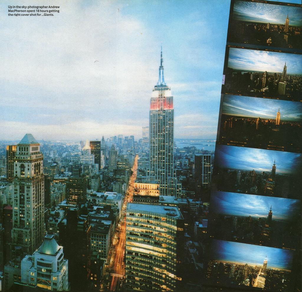 Andrew MacPherson ha impiegato ben 18 ore per ottenere il giusto effetto di luci della copertina di Standing On The Shoulder Of Giants