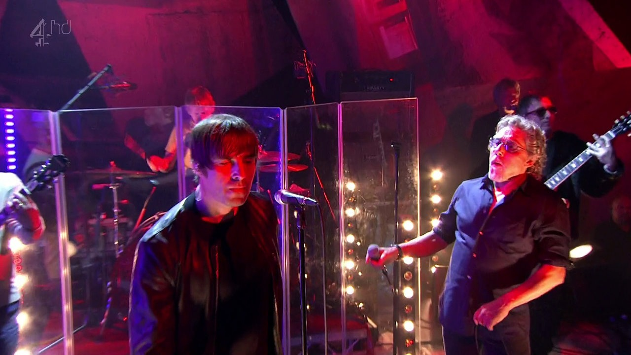 Liam Gallagher and Roger Paltry performing My Generation at TFI Friday