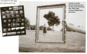 Scatti della sessione fotografica per la copertina di Wonderwall