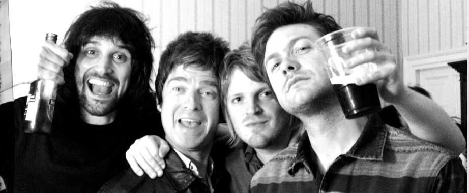 Noel Gallagher with Kasabian.