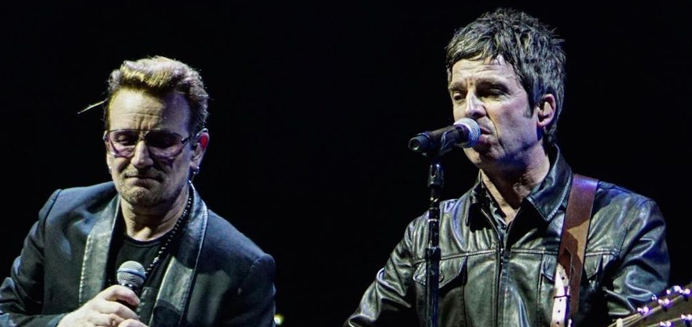 Noel Gallagher and Bono Vox